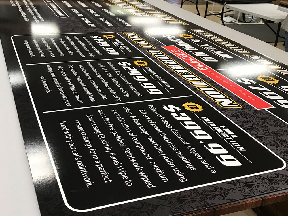 Metal signs and banners