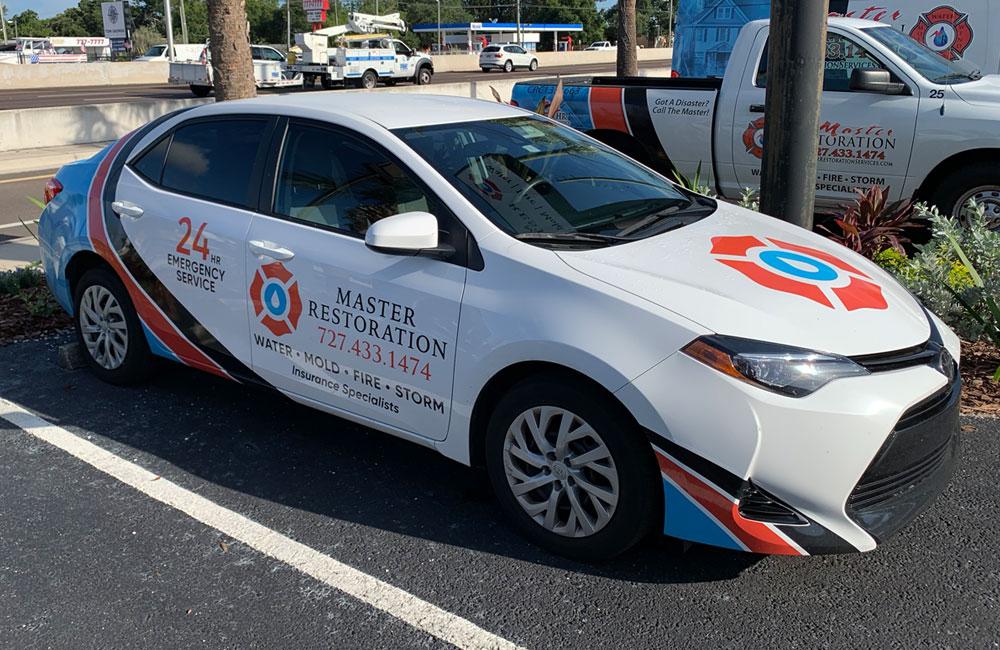 Vehicle half wrap - holiday, FL