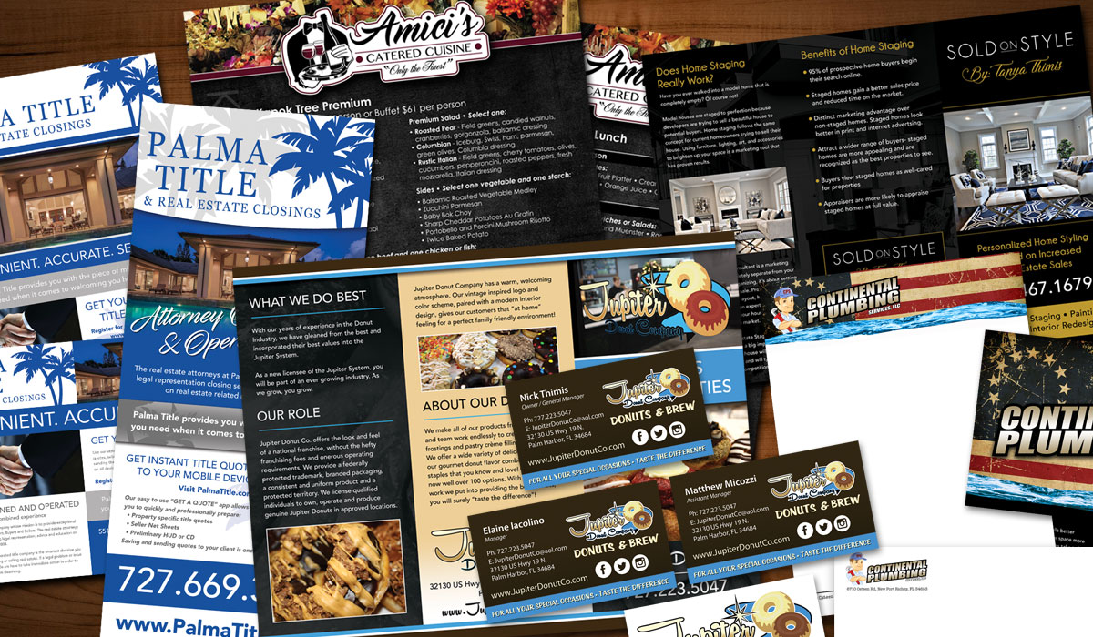 Promotional Print Materials Business cards, Flyers & Postcards